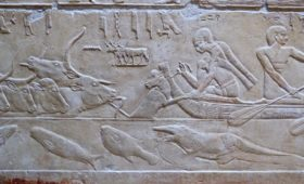 Ankhtours, wall carving on saqqara tomb walls